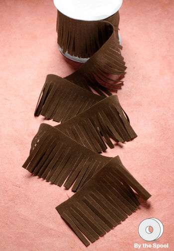 "4 ft. of 2-1/8"" Faux Suede Fringe"