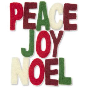 Peace Joy Noel Wool Felt Letters_72-08219