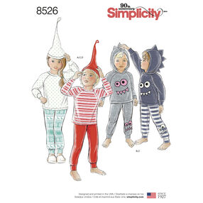 Simplicity Pattern 8526 Toddler and Child's Knit Tops, Pants and Hat