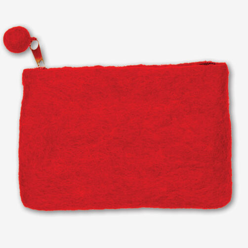 Red Wool Felt Mini Purse_72-73684