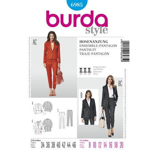 Burda Style Pattern 6985 Pantsuits