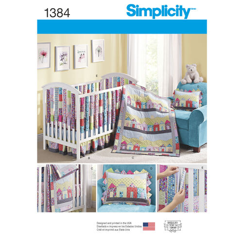 Simplicity Pattern 1384 Nursery & Crib Accessories
