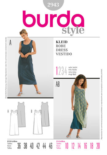 Burda Style Pattern 2943 Dress