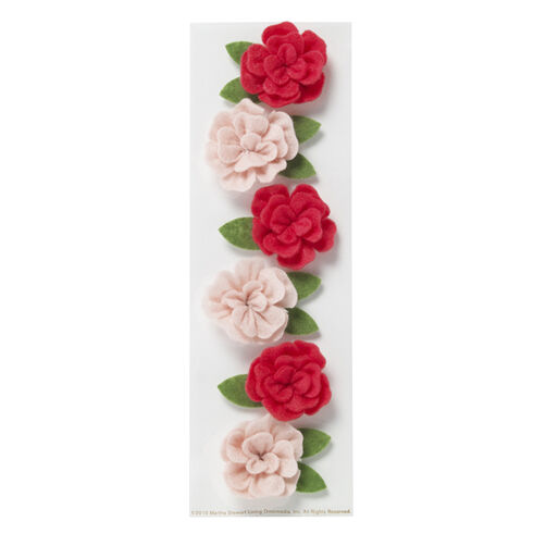 Dimensional Felt Rose Stickers_41-09027