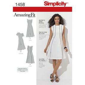 Simplicity Pattern 1458 Misses' & Plus Size Amazing Fit Dress