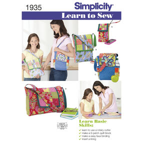 Simplicity Pattern 1935 Learn to Sew Bags