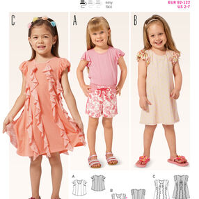 B9390 Toddlers' Shirt and  Dress