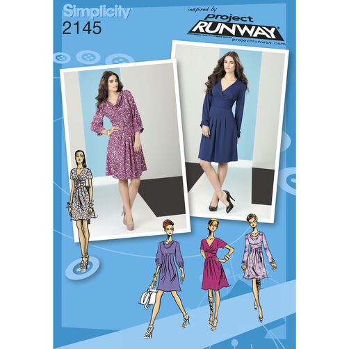 Simplicity Pattern 2145 Misses' Dresses, Project Runway Collection