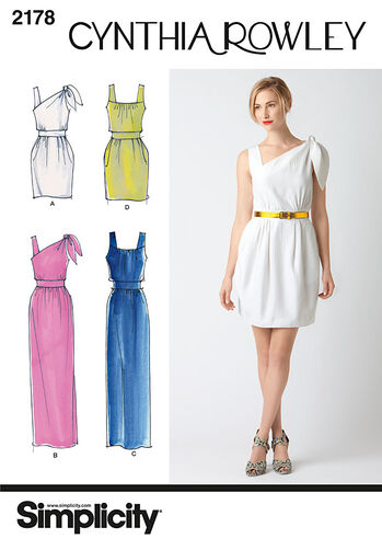 Simplicity Pattern 2178 Misses' Dresses. Cynthia Rowley Collection