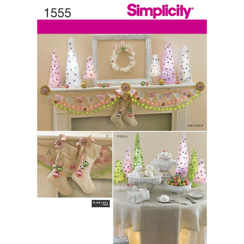 Simplicity Pattern 1555 Christmas Decorations