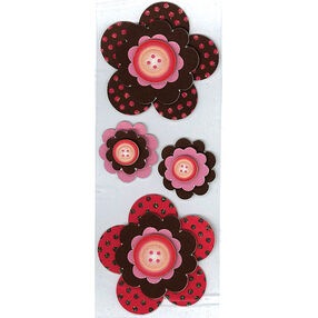 Polka Dot Flowers Slims Stickers_50-40036