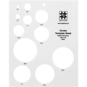 EZ Quilting 882504 Circles Template Sheet