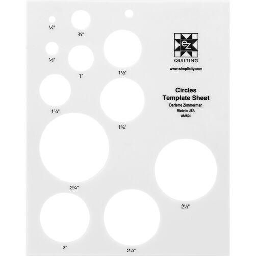 EZ Quilting 882504 Circles Template Sheet