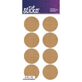 Burlap Circle Labels_52-72049