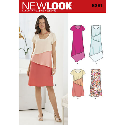 New Look Pattern 6281 Misses' Pullover Dress in Two Lengths