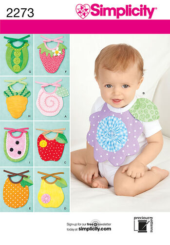 Simplicity Pattern 2273 Baby Bibs