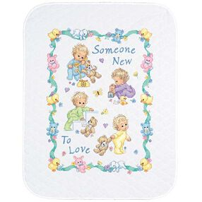 Someone New Baby Quilt, Stamped Cross Stitch_72963