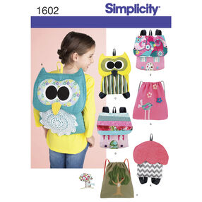Simplicity Pattern 1602 Child's Backpacks