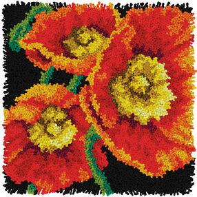 Poppies, Latch Hook_72-75205