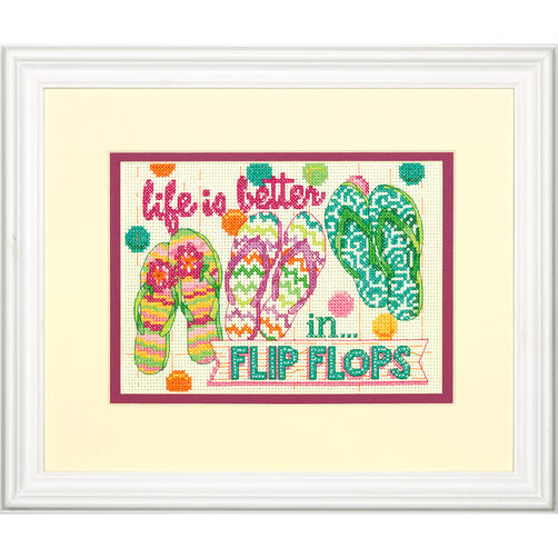 Flip Flops, Counted Cross Stitch_70-65152