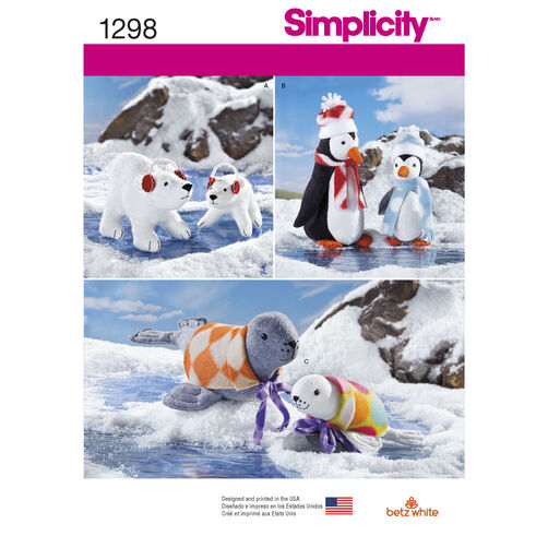 Stuffed Winter Animals in Two Sizes and Accessories