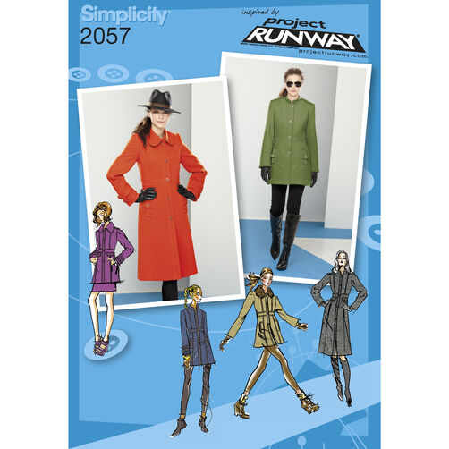 Simplicity Pattern 2057 Misses' Coat or Jacket, Project Runway Collection