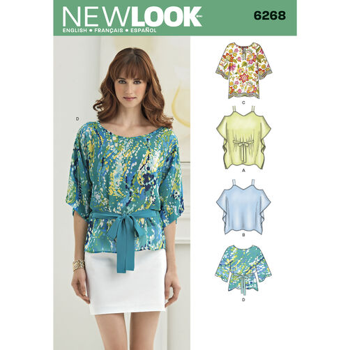 New Look Pattern 6268 Misses' Tunics and Tops