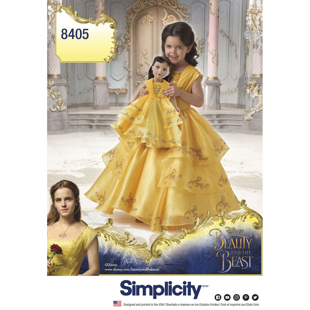 Simplicity Pattern 8405 Disney Beauty And The Beast