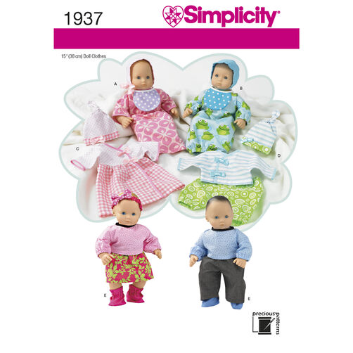 Simplicity Pattern 1937 Doll Clothes