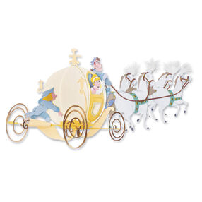 Cinderella Carriage Dimensional Sticker_DJBP024