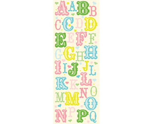 Lion Sleeps Tonight Multi Colored Die-cut Alphabet Stickers_30-304987