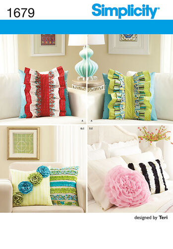 Pillows and Decorative Detachable Ruffles