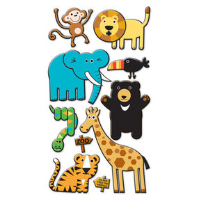Zoo Puffy Stickers_SPP1PVC29