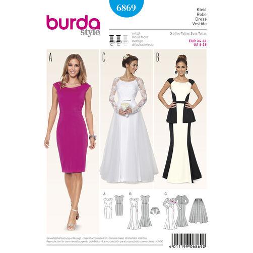 Burda Style Pattern 6869 Evening & Bridal Wear