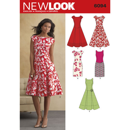New Look Pattern 6094 Misses' Dresses