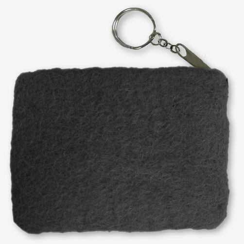 Black Wool Felt Coin Purse_72-73648