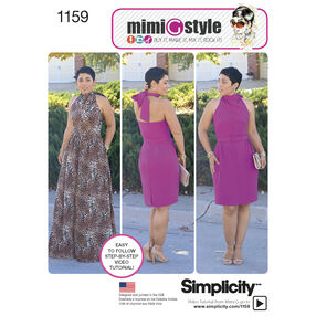 Simplicity Pattern 1159 Misses' Dresses from Mimi G Style Collection