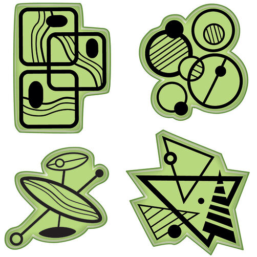 Mod Fun Shapes Cling Stamps_65-32085
