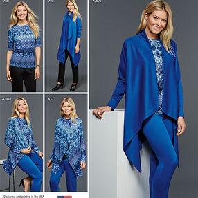 Misses' Easy-to-Sew Knit Sportswear Pattern