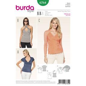 Burda Style Pattern 6764 Tops, Shirts, Blouses