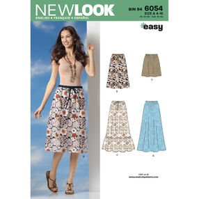 New Look Pattern 6054 Misses' Skirts