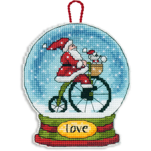 Love Snow Globe Ornament in Counted Cross Stitch_70-08903