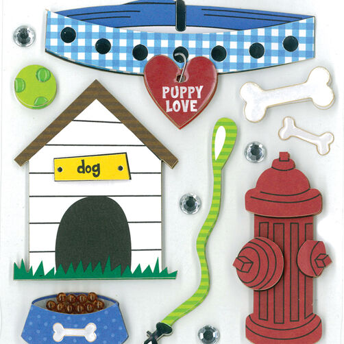 Everyday Puppy Dimensional Sticker  _30-577381