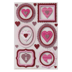 Frame And Heart Chipboard Stickers_41-00150