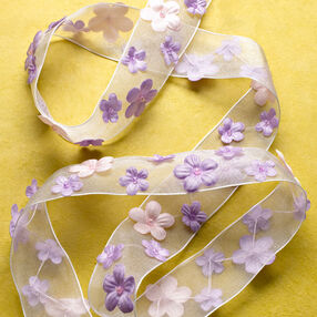 "1"" Ribbon with Flowers Band"
