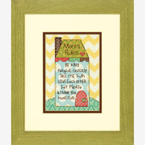 Mom's Rules in Counted Cross Stitch_70-65136