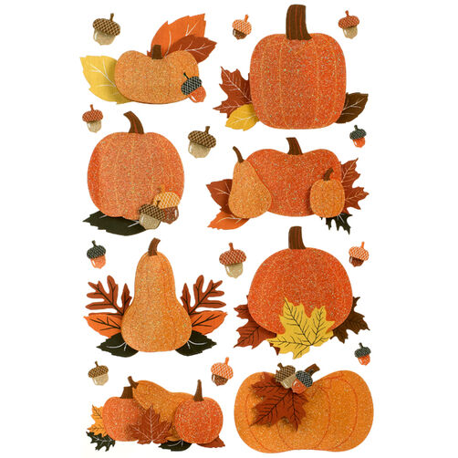 Animal Masquerade Pumpkin Patch Stickers_48-20297