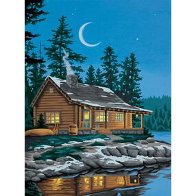 Lakeside Cabin, Paint by Number_91413