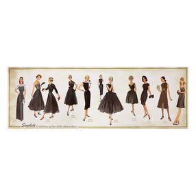 Simplicity Vintage Black Dress Evolution Poster