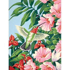 Hummingbird & Fuchsias, Paint by Number_91310